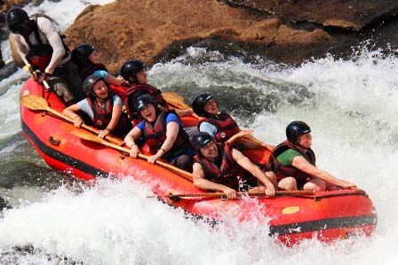 White water rafting on the Nile River - Jinja town